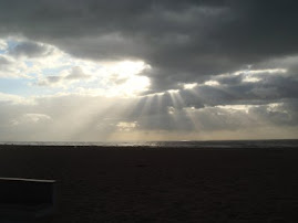 Pôr-do-sol com nuvens na Póvoa