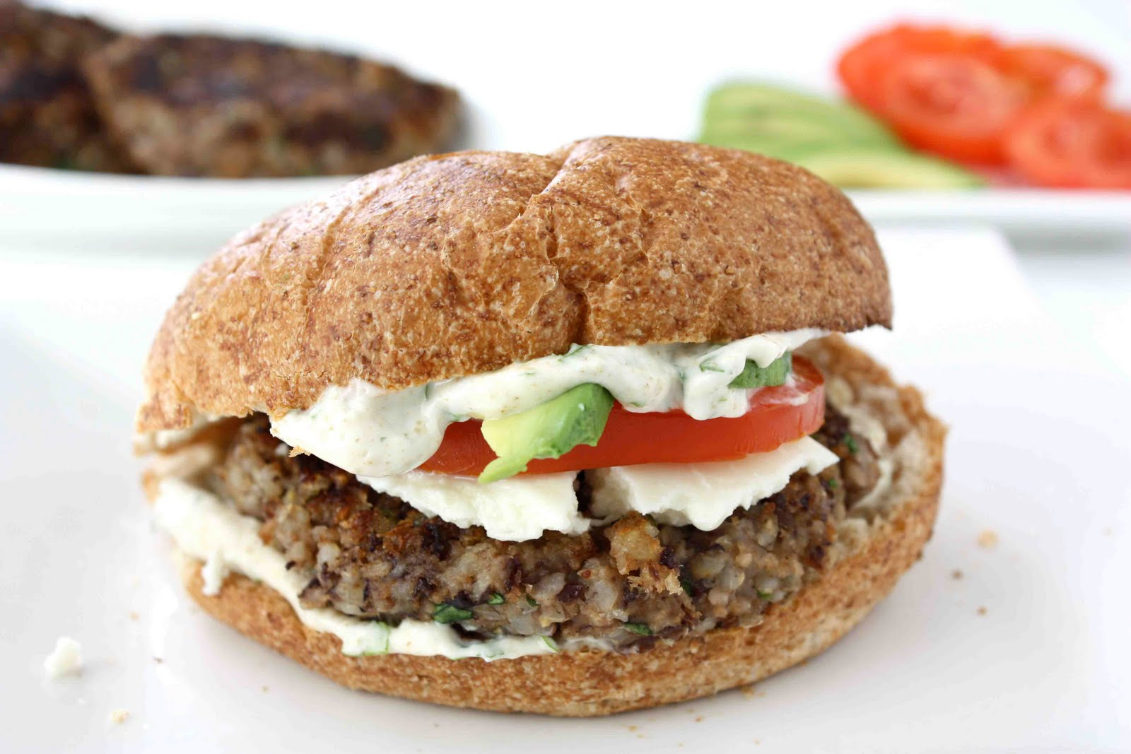 CuisineNie: Black Bean Burger Recipe with Cilantro-Lime Mayo