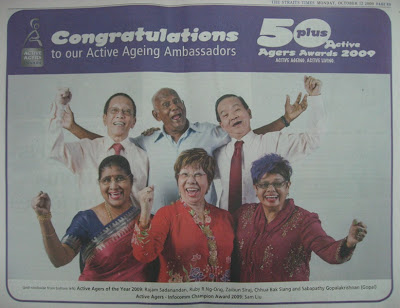 ... award recognizes senior citizens who are role models of active ageing