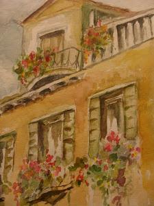 Casa con fiori