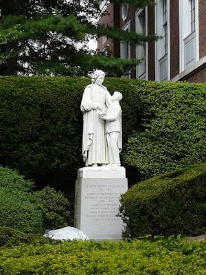 St. Jogn Baptist de La Salle statue in Manhattan College