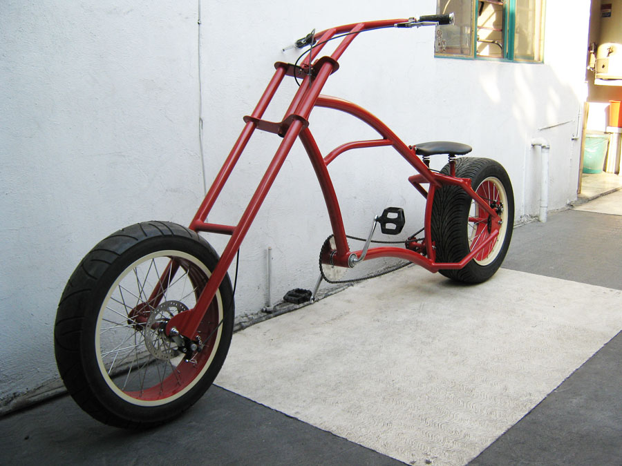 Build Chopper Bicycle http://atomic-zombie-extreme-machines.blogspot.com/2011/01/sick-chopper-bikes-from-mexico.html