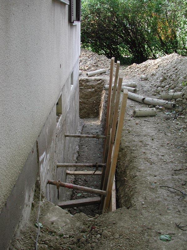 r novation de ma villa isolation des fondations drainage 2007 08. Black Bedroom Furniture Sets. Home Design Ideas