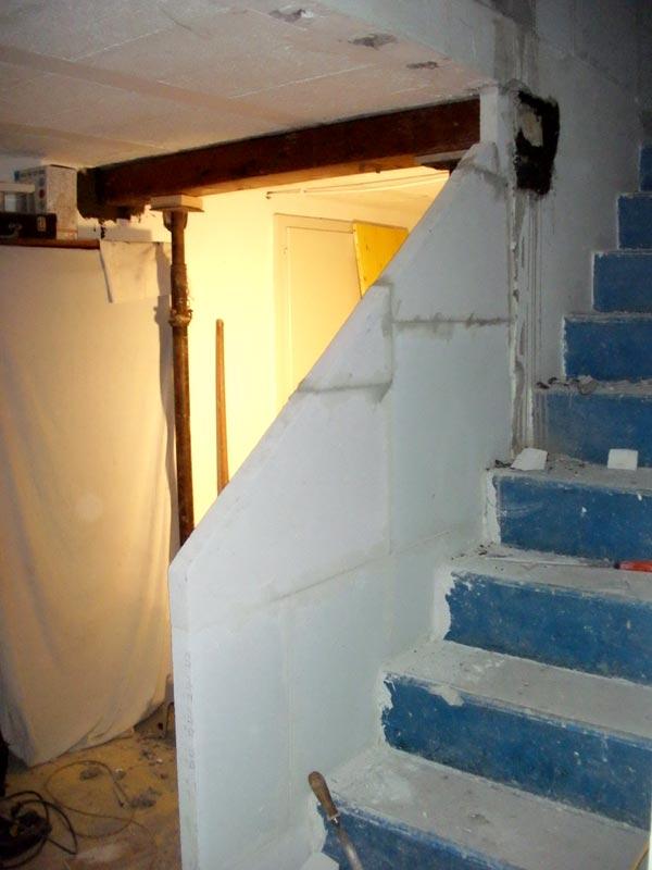 R novation de ma villa chemin e - Cheminee beton cellulaire ...