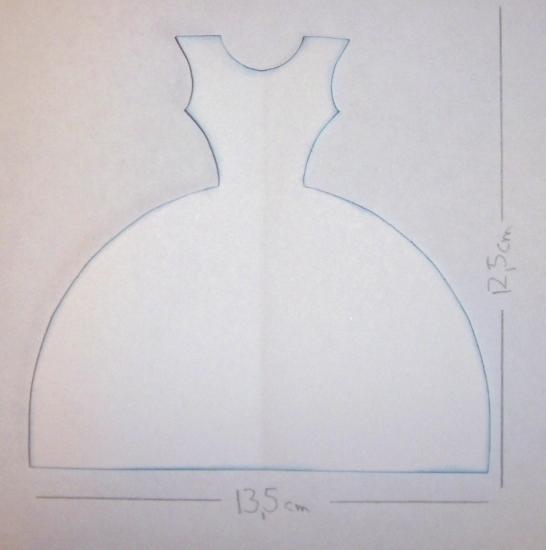 Выкройка платья на открытку 65