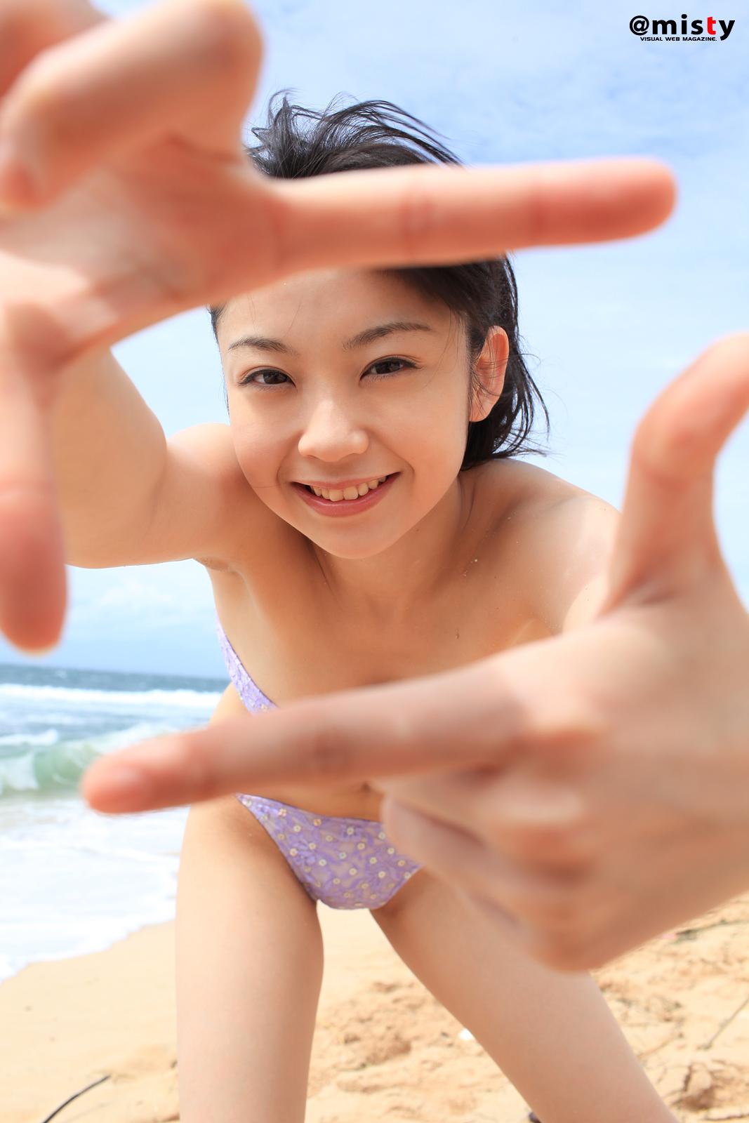 Nana Akiyama little girl on the beach