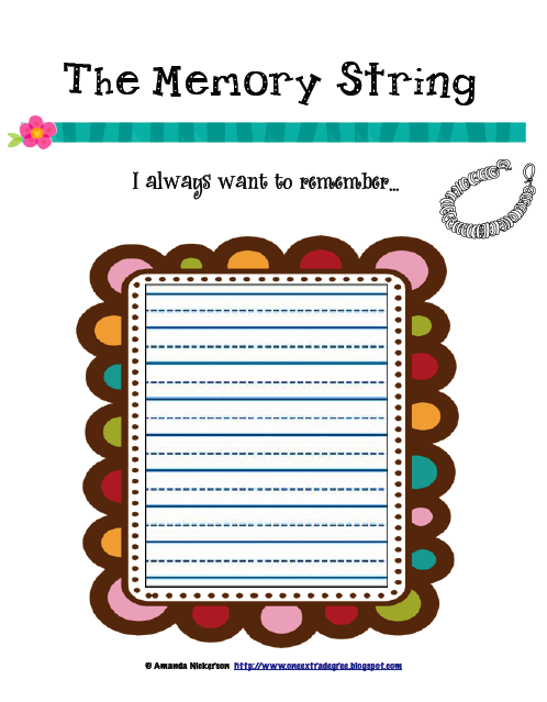 Bead String Worksheet a Chance to String Beads