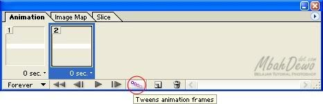 Klik icon Tweens animation frames.
