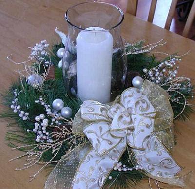 Antonia rodriguez adornos para la mesa de navidad for Centro mesa navidad