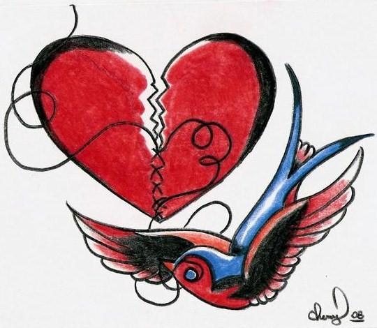 Broken Heart Drawings