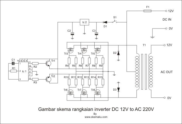 Skema Dc Ke Ac 220v 1000w at Electronics Online site