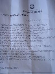 JURAMENTO DO PROFESSOR DE EDUCAÇÃO FÍSICA