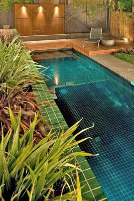 Casas minimalistas y modernas terrazas con piscina - Piscina pequena terraza ...