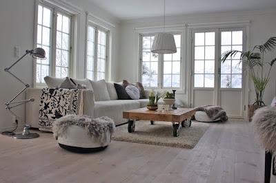 Estilo rustico sillones blancos para el living for Sillones rusticos para living