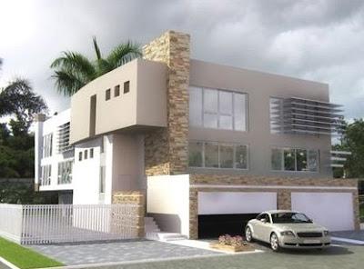 Casas minimalistas y modernas diciembre 2008 for Frentes de viviendas modernas