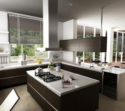 cortinas cocina minimalista
