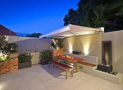 Casas minimalistas y modernas terrazas nuevas propuestas - Maceteros para terrazas ...