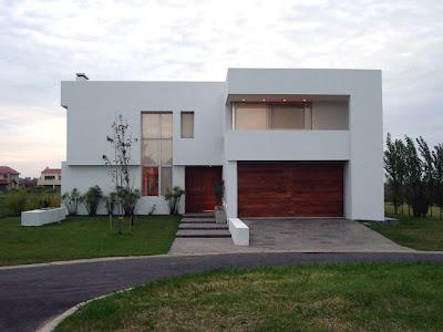 Casas minimalistas y modernas fachadas blancas - Casas de madera blancas ...