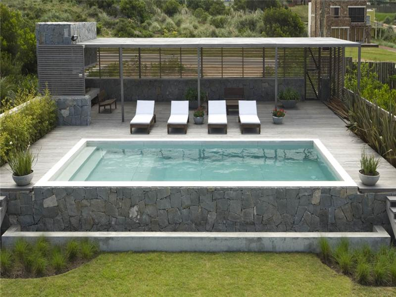 estilo rustico piscinas rusticas con mucho deck