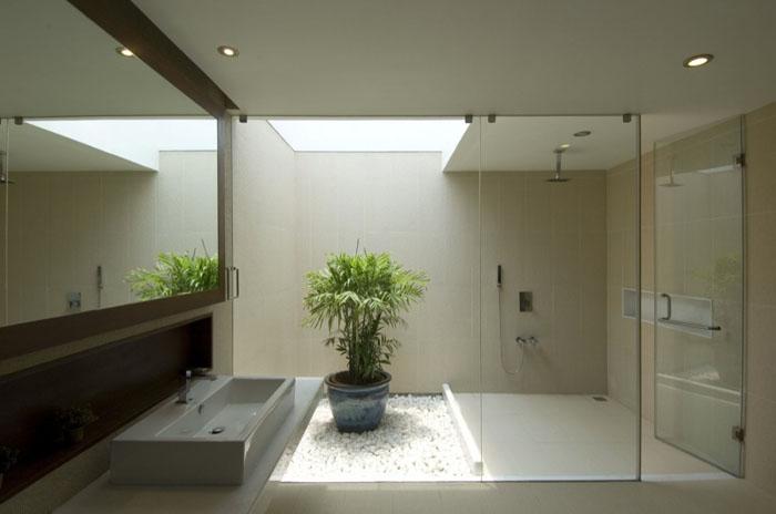 Casas minimalistas y modernas incorporando el verde en el for Jardines pequenos techados