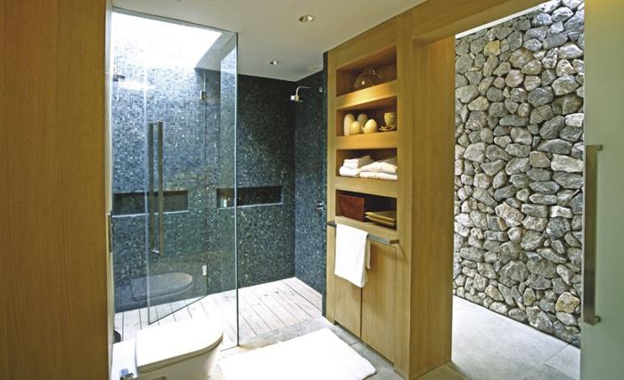 Casas minimalistas y modernas muros de piedra en casas - Imagenes de muros de piedra ...