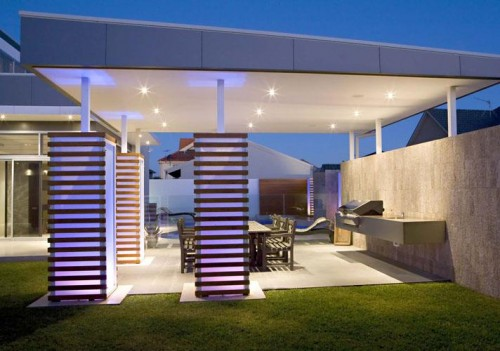 Casas minimalistas y modernas quinchos minimalistas - Barbacoa minimalista ...