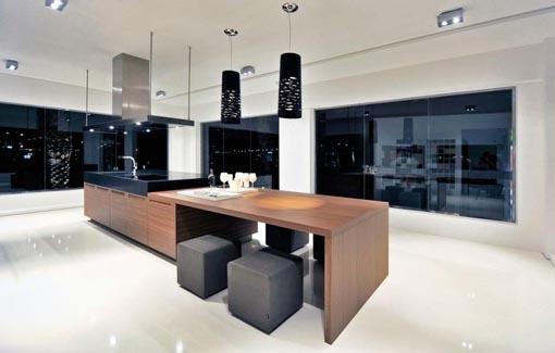 Casas minimalistas y modernas cocina isla for Cocinas integrales modernas minimalistas