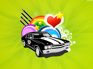 Love Vector Car Wide Wallpaper