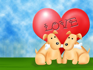 Happy Dogs Love Background