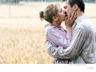 Kissing in the Field wallpaper