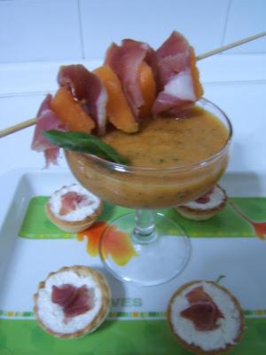 Gazpacho de melón cantaloupe