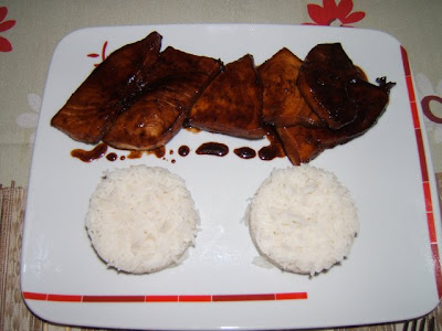 Pez espada a la salsa teriyaki / Espadon à la sauce teriyaki