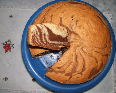 Gâteau marbré zébré
