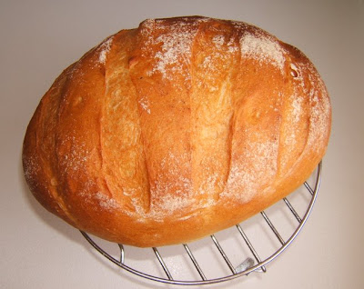 Hogaza de pan con poolish / Miche de pain au poolish