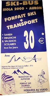 Ski-Bus Information leaflet - front page