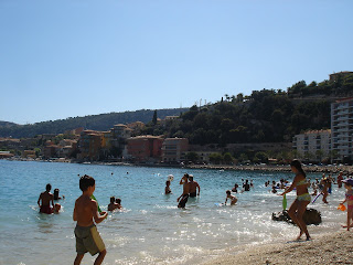 view to the west of Villefranche