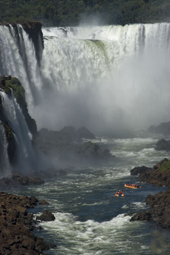 Boats at the Iguazu Falls
