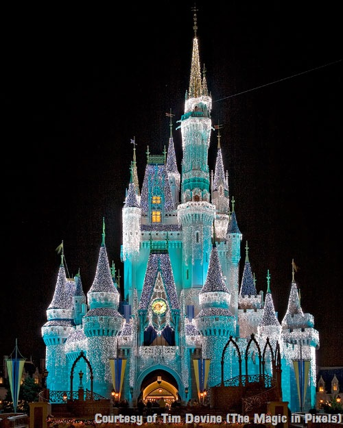 walt disney world castle at night. walt disney world castle