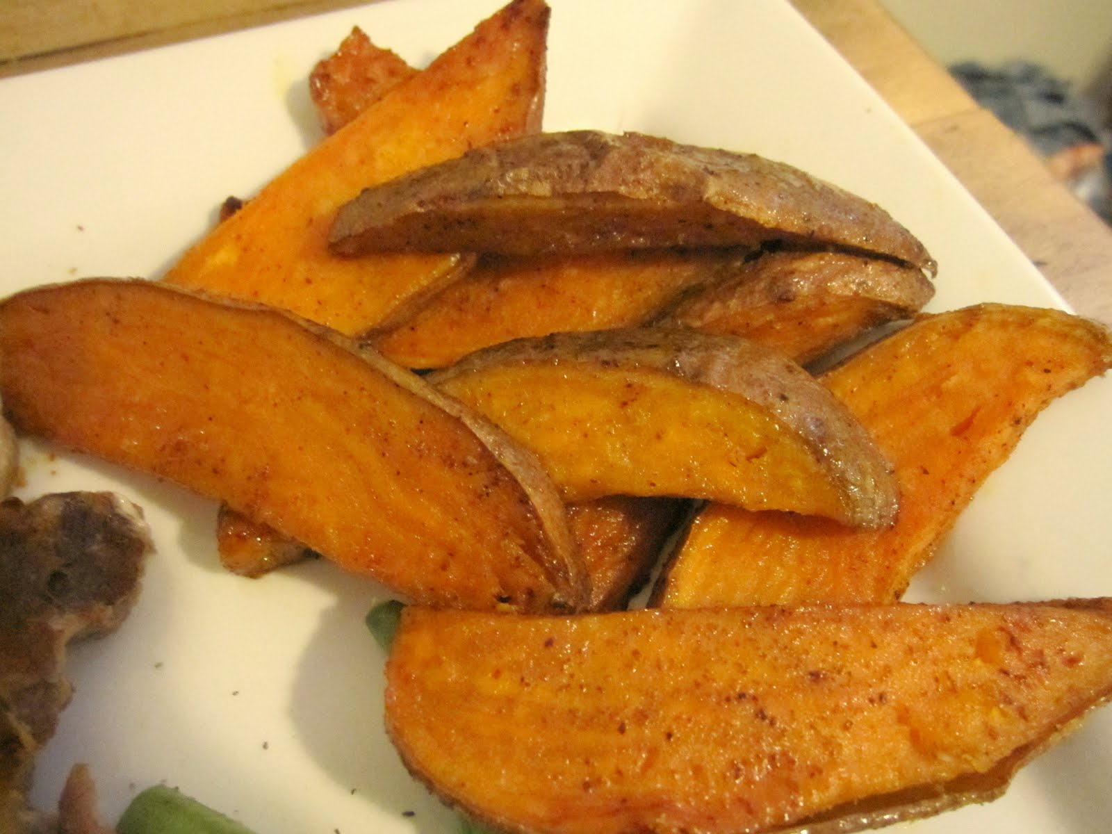 wedges filet mignon with roasted potato wedges sweet potato wedges ...
