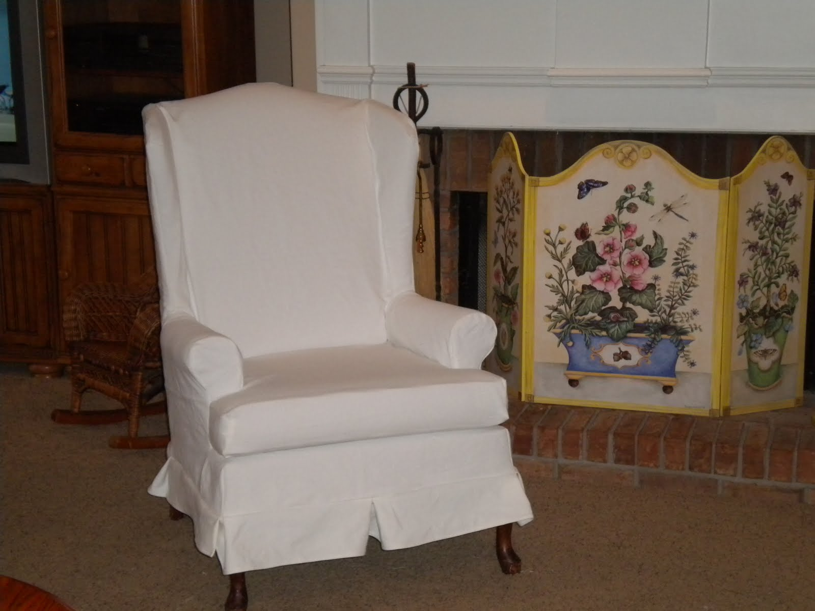 Amazing Wingback Chair Slipcover