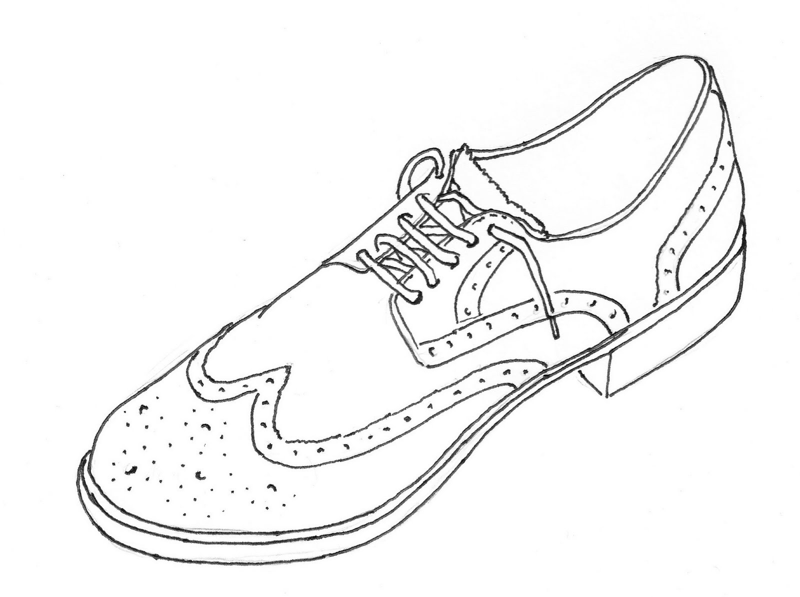 Contour Line Drawing Of Shoes : Rob s learning august