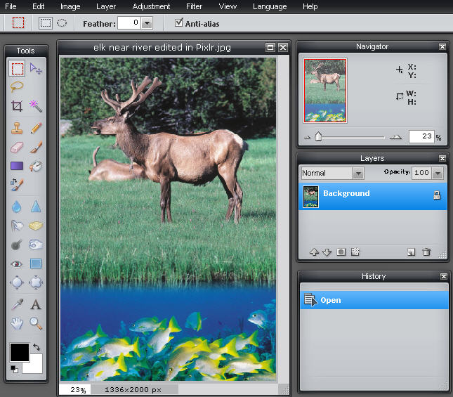 In Touch Is A Free Online Photo Editing Program