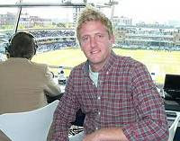 Oli Broom in the commentary box