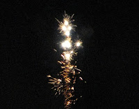 A firework in action