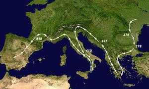 Η Μετανάστευση των Βησιγότθων