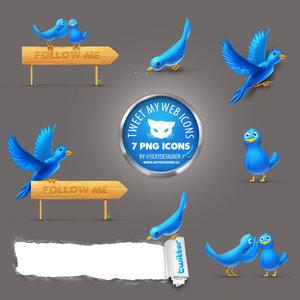 Скачать бесплатно twitter-иконки! Ловите!