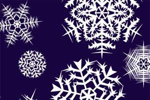 Кисти для Adobe Illustrator: снежинки
