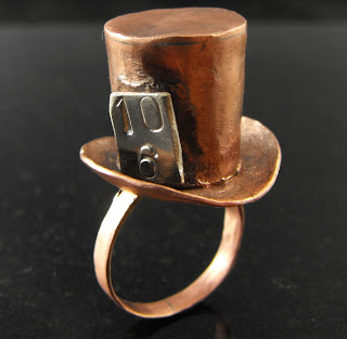 mad hatter day mad hatter ring copper jewelry
