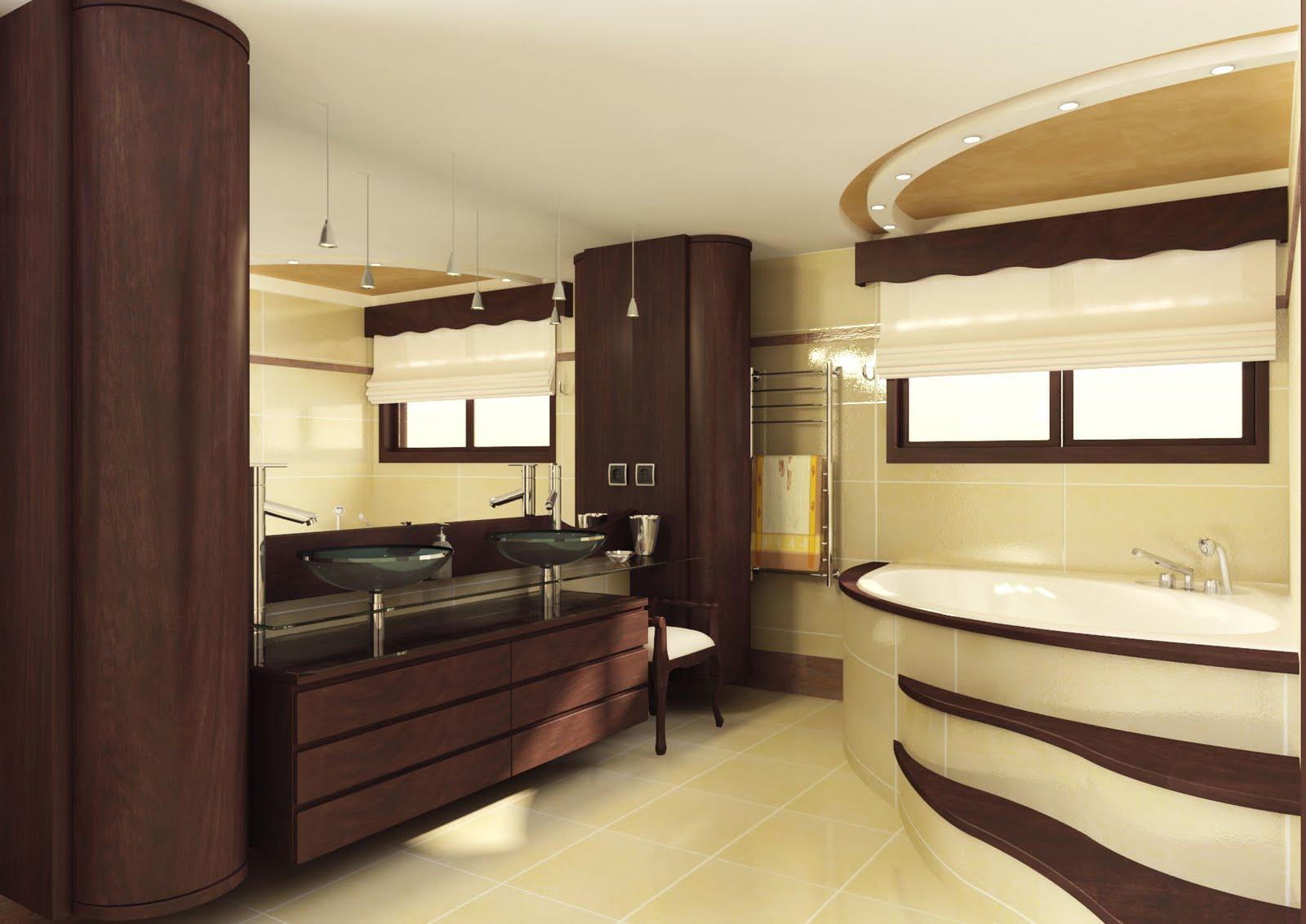 Infografias 3d ba os for Modelos de cuartos de bano