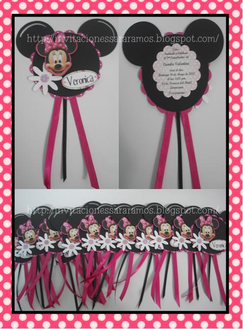 Invitaciónes de Minnie Mouse bebé - Imagui